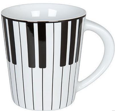 Piano ピアノマグカップ ♪※在庫有りと書いてあっても、お取り寄せ商品は受注後にメーカー注文になります。※☆【音符・小物グッズ-音楽雑貨】【音楽雑貨】  音楽グッズ  <br>バレエ発表会 記念品 プレゼントに最適 ♪