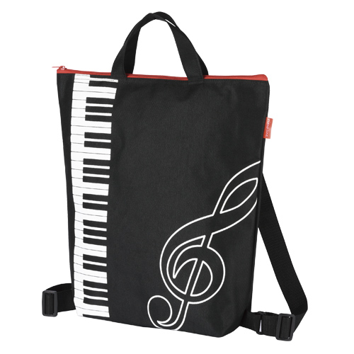 Piano line 2wayリュックバッグ♪※在庫有りと書いてあっても、お取り寄せ商品は受注後にメーカー注文になります。※☆【音符・小物グッズ-音楽雑貨】【音楽雑貨】  音楽グッズ  <br>バレエ発表会 記念品 プレゼントに最適 ♪