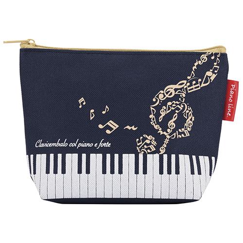 Piano line ハミング 舟形ポーチ ♪※在庫有りと書いてあっても、お取り寄せ商品は受注後にメーカー注文になります。※☆【音符・小物グッズ-音楽雑貨】【音楽雑貨】  音楽グッズ  <br>バレエ発表会 記念品 プレゼントに最適 ♪