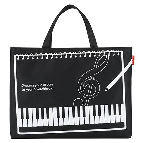 Piano line B4スケッチブック対応バッグ ♪※在庫有りと書いてあっても、お取り寄せ商品は受注後にメーカー注文になります。※☆【音符・小物グッズ-音楽雑貨】【音楽雑貨】  音楽グッズ  <br>バレエ発表会 記念品 プレゼントに最適 ♪