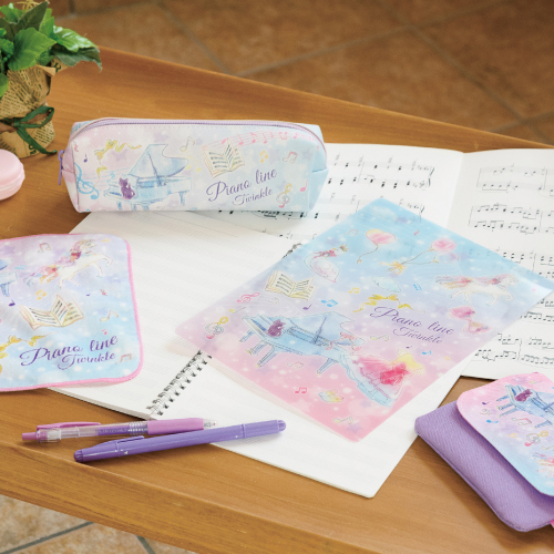 Piano line ペンケース(トゥインクル)♪※在庫有りと書いてあっても、お取り寄せ商品は受注後にメーカー注文になります。※☆【音符・小物グッズ-音楽雑貨】【音楽雑貨】  音楽グッズ  <br>バレエ発表会 記念品 プレゼントに最適 ♪