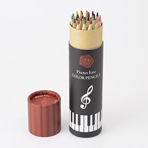 Piano line 色鉛筆24色♪※在庫有りと書いてあっても、お取り寄せ商品は受注後にメーカー注文になります。※☆【音符・小物グッズ-音楽雑貨】【音楽雑貨】  音楽グッズ  <br>バレエ発表会 記念品 プレゼントに最適 ♪