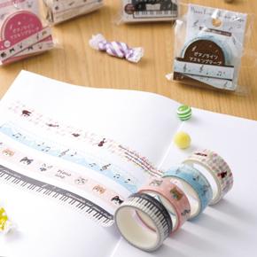ピアノライン マスキングテープ  ♪※在庫有りと書いてあっても、お取り寄せ商品は受注後にメーカー注文になります。※☆【音符・小物グッズ-音楽雑貨】【音楽雑貨】  音楽グッズ  <br>バレエ発表会 記念品 プレゼントに最適 ♪