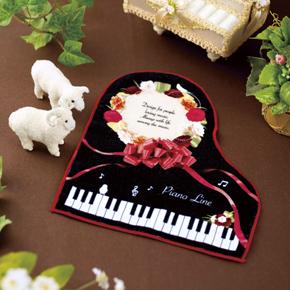 Piano line ハンドタオル ギフト♪※在庫有りと書いてあっても、お取り寄せ商品は受注後にメーカー注文になります。※☆【音符・小物グッズ-音楽雑貨】【音楽雑貨】  音楽グッズ  <br>バレエ発表会 記念品 プレゼントに最適 ♪