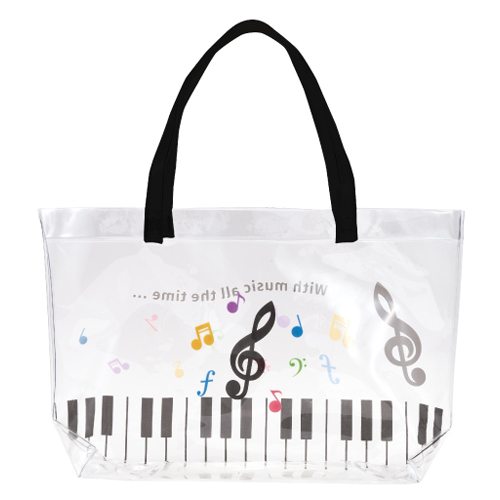 Piano line プールバッグ(カラフル音符) ♪※在庫有りと書いてあっても、お取り寄せ商品は受注後にメーカー注文になります。※☆【音符・小物グッズ-音楽雑貨】【音楽雑貨】  音楽グッズ  <br>バレエ発表会 記念品 プレゼントに最適 ♪