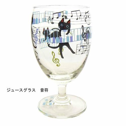 NEKOにゃ~ごジュースグラス 音符☆【プレゼントに最適♪】 【音楽雑貨 ピアノ雑貨】