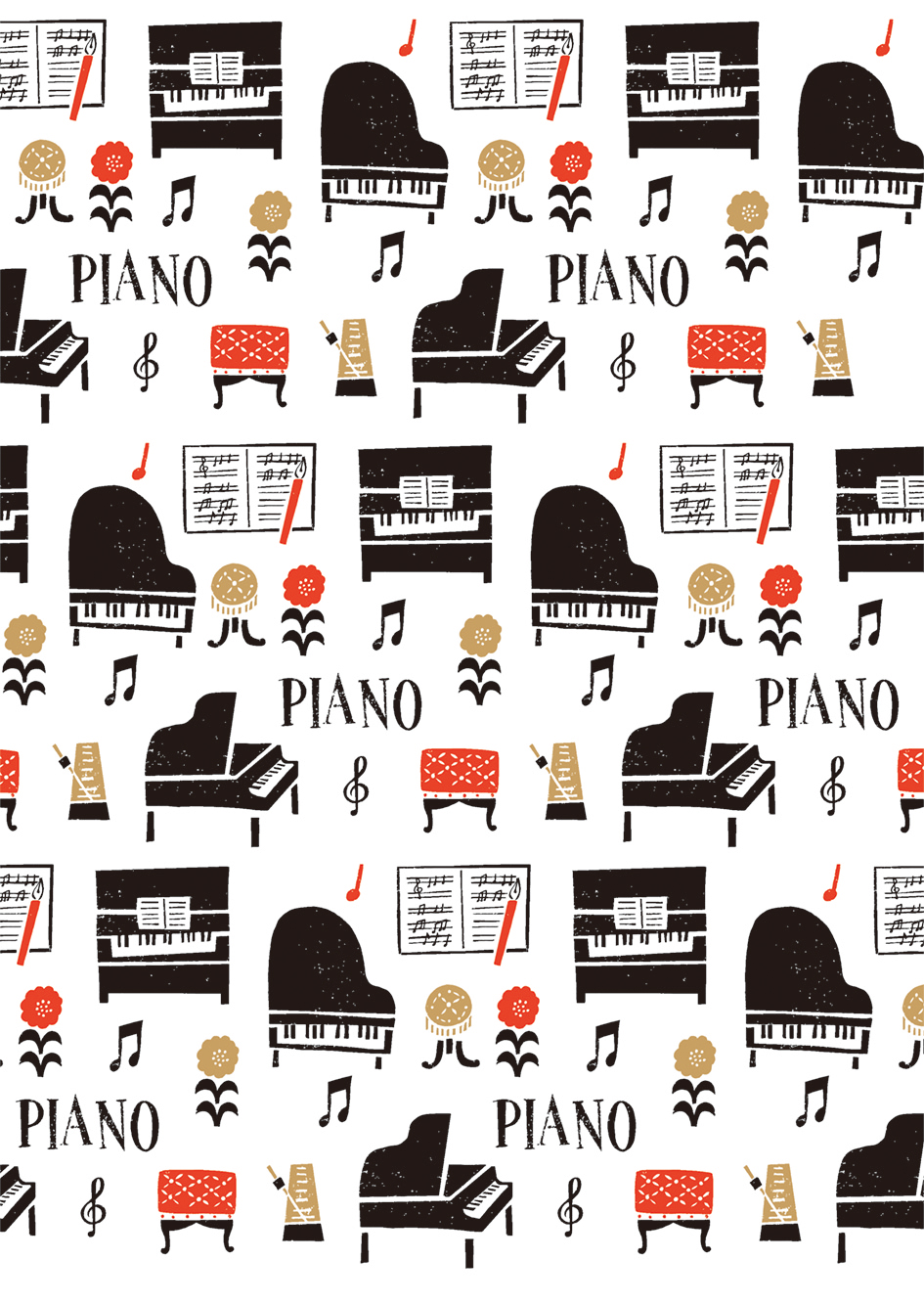 クリアファイル la la PIANO♪※在庫有りと書いてあっても、お取り寄せ商品は受注後にメーカー注文になります。※☆【音符・小物グッズ-音楽雑貨】【音楽雑貨】  音楽グッズ  <br>バレエ発表会 記念品 プレゼントに最適 ♪