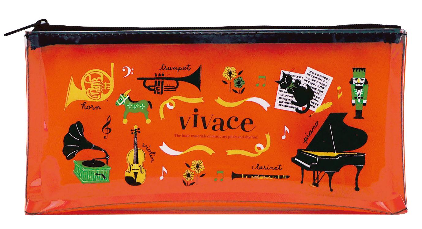 ハンカチタオル vivace♪※在庫有りと書いてあっても、お取り寄せ商品は受注後にメーカー注文になります。※☆【音符・小物グッズ-音楽雑貨】【音楽雑貨】  音楽グッズ  <br>バレエ発表会 記念品 プレゼントに最適 ♪