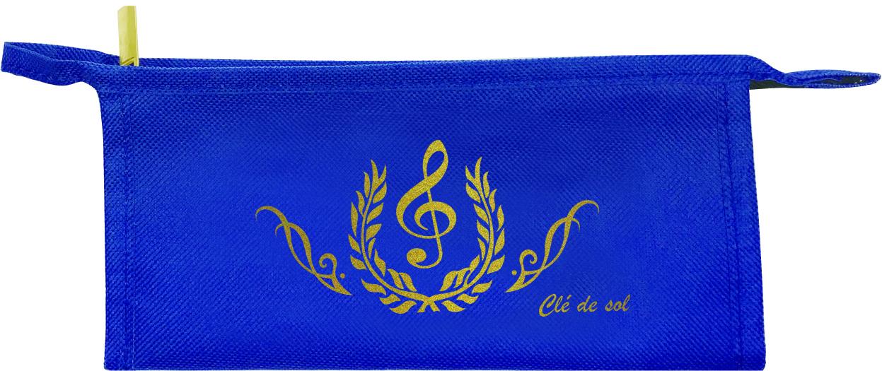 ペンポーチ Cle de sol  ♪※在庫有りと書いてあっても、お取り寄せ商品は受注後にメーカー注文になります。※☆【音符・小物グッズ-音楽雑貨】【音楽雑貨】  音楽グッズ  <br>バレエ発表会 記念品 プレゼントに最適 ♪