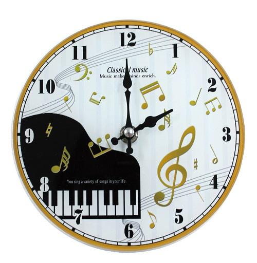 掛置時計 クラシカルミュージック  ♪※在庫有りと書いてあっても、お取り寄せ商品は受注後にメーカー注文になります。※☆【音符・小物グッズ-音楽雑貨】【音楽雑貨】  音楽グッズ  <br>バレエ発表会 記念品 プレゼントに最適 ♪