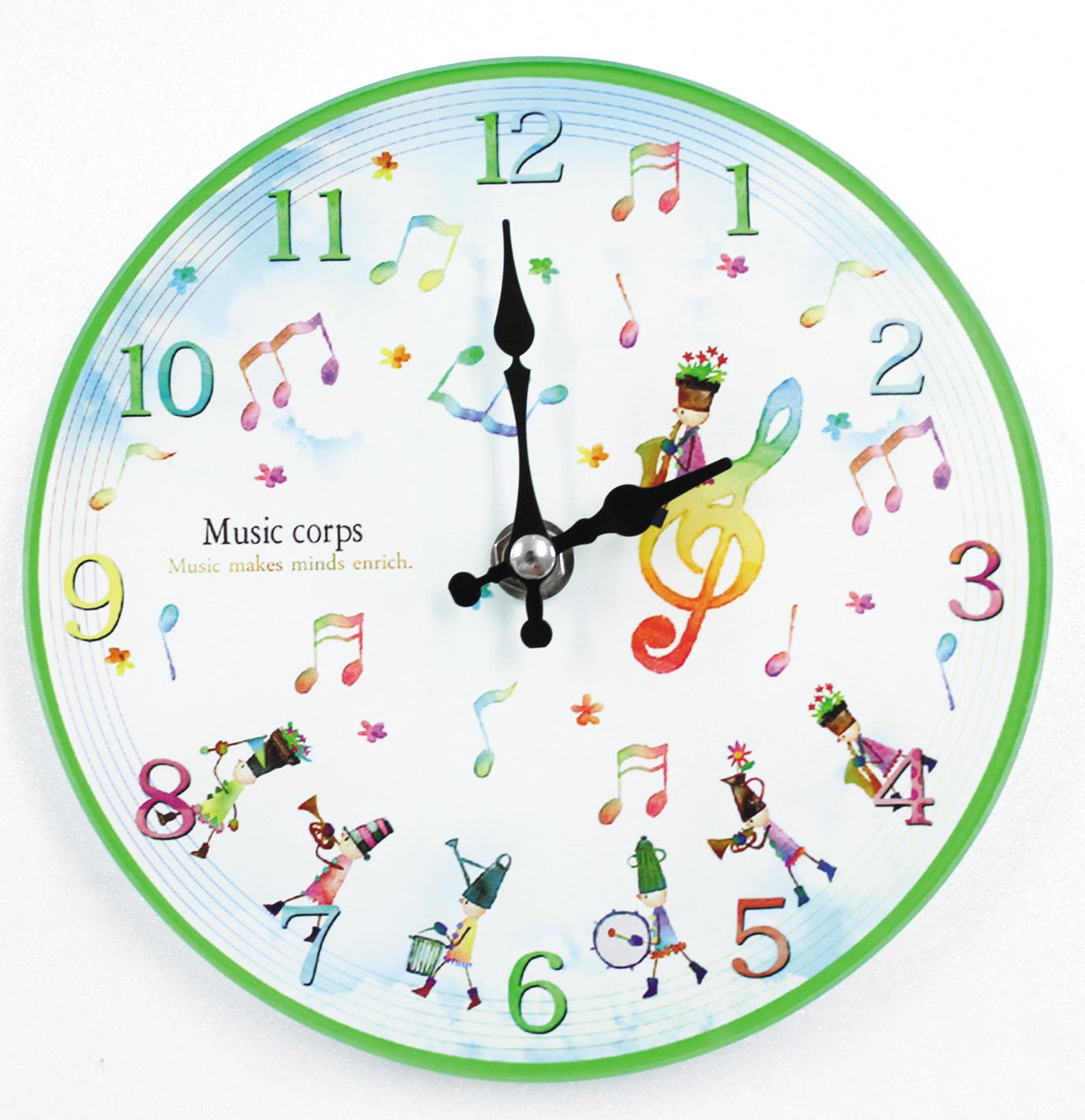 掛置時計 ♪※在庫有りと書いてあっても、お取り寄せ商品は受注後にメーカー注文になります。※☆【音符・小物グッズ-音楽雑貨】【音楽雑貨】  音楽グッズ  <br>バレエ発表会 記念品 プレゼントに最適 ♪