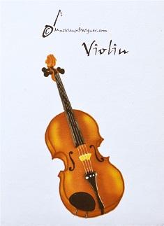 パスケースにもなるカードホルダー バイオリン ♪※在庫有りと書いてあっても、お取り寄せ商品は受注後にメーカー注文になります。※☆【音符・小物グッズ-音楽雑貨】【音楽雑貨】  音楽グッズ  <br>バレエ発表会 記念品 プレゼントに最適 ♪