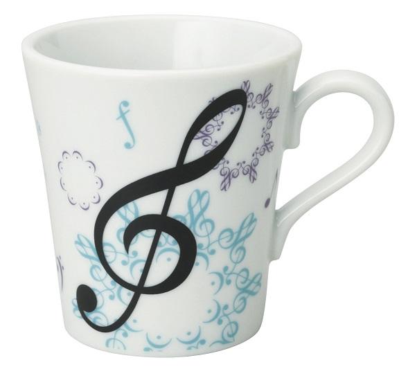 マグカップ カレイドスコープ ♪※在庫有りと書いてあっても、お取り寄せ商品は受注後にメーカー注文になります。※☆【音符・小物グッズ-音楽雑貨】【音楽雑貨】  音楽グッズ  <br>バレエ発表会 記念品 プレゼントに最適 ♪