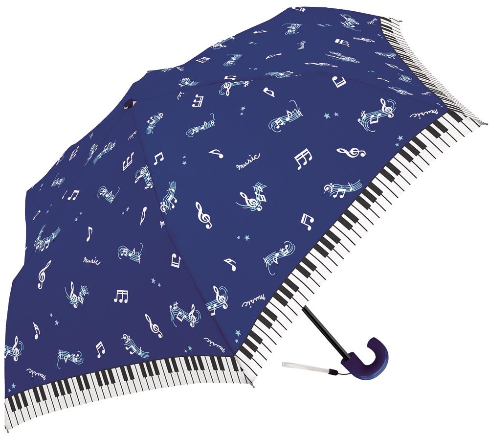 折りたたみ傘 マジカルミュージック  ♪※在庫有りと書いてあっても、お取り寄せ商品は受注後にメーカー注文になります。※☆【音符・小物グッズ-音楽雑貨】【音楽雑貨】  音楽グッズ  <br>バレエ発表会 記念品 プレゼントに最適 ♪